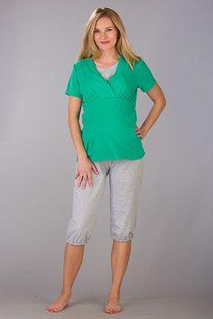 Krátké zelené kalhotové pyžamo na kojení Bermuda Shorts, Fashion, Moda, Fashion Styles, Fashion Illustrations, Shorts