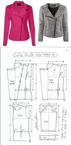 Amazing Sewing Patterns Clone Your Clothes Ideas. Enchanting Sewing Patterns Clone Your Clothes Ideas. Coat Patterns, Dress Sewing Patterns, Clothing Patterns, Vogue Patterns, Blazer Pattern, Jacket Pattern, Fashion Sewing, Diy Fashion, Fashion Details