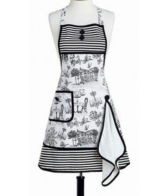 Loving this Café Toile Gigi Apron & Towel - Women on #zulily! #zulilyfinds
