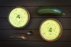 Caroline Apovian shares her fragrant and spicy weight loss recipe for curried zucchini and cauliflower soup. It is high in protein, low in calories. Weight Loss Soup, Cauliflower Soup, Curry Powder, Zucchini, Spicy, Protein, Healthy Recipes, Vegetables, Onions