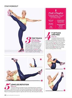 Abs Workout 2 - P!nk, I love how fit this chic is!