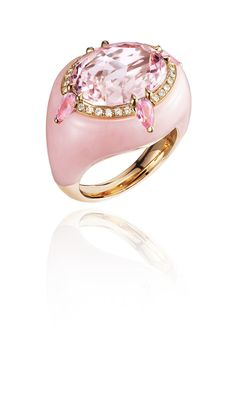 Bogh-Art pink morganite inlaid into pink morganite ring (£6,400).