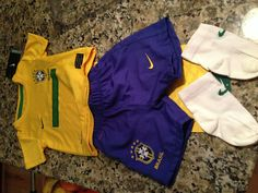 Brazilian soccer team uniform for baby by Nike.