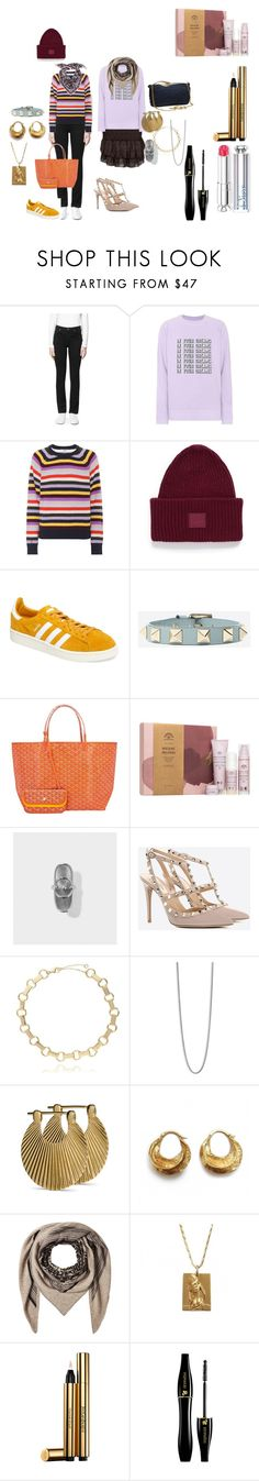 """""""christmas wishes"""" by jasmin-sommer on Polyvore featuring Aiayu, Ganni, Acne Studios, adidas, Goyard and Lala Berlin"""