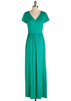 Botanical Lunch Dress in Jade. Whether you decide on quiche or a panini at the gardens cafe, you already made the stylish choice to sport this jade green maxi dress. #green #modcloth