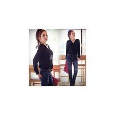 2014 New Women's Chiffon Long Sleeve Shirt Tops Blouse (59 HKD) via Polyvore