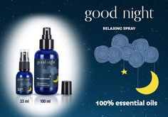 Good Night Relaxing Spray ✨ Nuovo Spray rilassante dal profumo 100% naturale che, vaporizzato sul cuscino e nella camera da letto prima di andare a dormire, aiuterà a creare un'atmosfera serena e tranquilla, capace di conciliare il sonno e di garantire il benessere necessario per la notte. Disponibile nei flaconi da 33 e 100 ml. Come sempre, Ecofriendly e Made in Italy. http://www.alfera.it/categoria-prodotto/percorso-olfattivo/good-night-relaxing-spray/