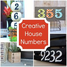 Creative ideas for your house numbers.