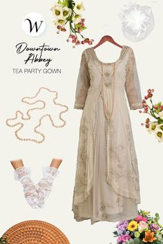 Lovely and inspiring, this Edwardian romance gown is made with dramatic embroidery and layered skirts. Light and flowing, the Edwardian Romance Gown includes a delicate embroidered neckline and sprigs of floral ivy embroidery overlay. Gathered softly at the waist, your Edwardian romance will be fulfilled...