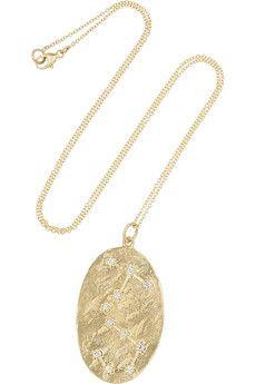 Brooke Gregson Scorpio 14-karat gold diamond necklace  | NET-A-PORTER