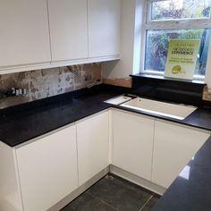 Nero Venata - Welwyn Garden City, Herts - Rock and Co Granite Ltd Granite, Kitchen Cabinets, City, Home Decor, Decoration Home, Room Decor, Kitchen Cupboards, Cities, Interior Design