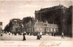 Korte Amstelstraat met Portugese Synagoge, Amsterdam. Omstreeks 1900 Fotograaf onbekend, collectie JHM, Amsterdam