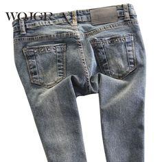 Spring Female Low Waist Women Jeans Pencil Pants Stretch Pants Slim Korean Tide Jeans For Women