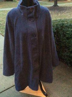 37e7bc504be20 New woman within plus size women fleece swing jacket coat black 6x