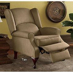 Microfiber Wing Back Recliner - Maybe Micheal can have a recliner after all!