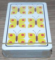 Butterflies - Vintage Sealed Pack of Piatnik Playing Cards