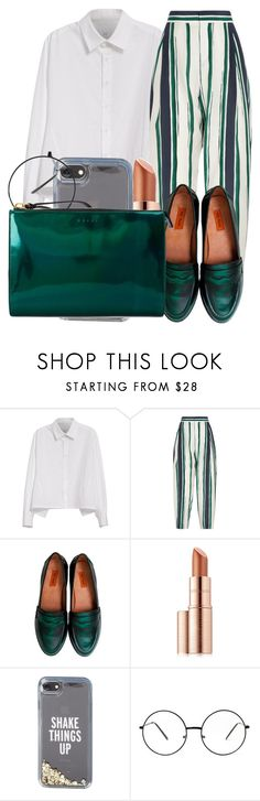 """""""Untitled #2358"""" by ayannap ❤ liked on Polyvore featuring Y's by Yohji Yamamoto, Chloé, Miz Mooz, Estée Lauder, Kate Spade and Marni"""