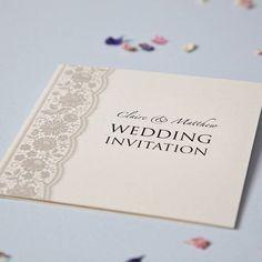 Personalised Lace Wedding Invitation Set from notonthehighstreet.com