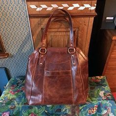 Large Brown Leather Handbag Tote, Leather Shoulder Bag, Leather Bag, Leather Purse, by The Leather Store Tan Leather Handbags, Leather Purses, Leather Bag, Chelsea, Leather Store, Everyday Bag, Vegetable Tanned Leather, Tote Handbags, Body