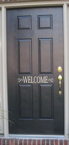 Welcome -Vinyl Lettering wall words graphics Home decor itswritteninvinyl. $8.77, via Etsy.