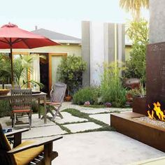 50+ Landscaping Ideas with Stone - Sunset