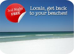 Gulf Coast Vacation Specials by Southern Vacation Rentals—Third Night Free!
