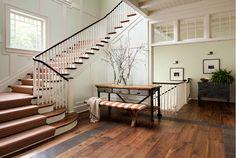Wide Plank Floors. Foyer Wide Plank Floors. Wide Plank Floors in Foyer. #WidePlankFloors #Foyer Wade Weissmann Architecture.