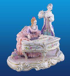 porcelain irish dresden lace music group