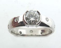 Gypsy set diamonds add some flair to the beauty!  www.troyshoppejewellers.com