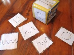 Art dice- put different pictures on dice for kids to practice drawing. Could also put words of things they should draw.