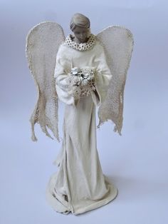 powertex Textile Sculpture, Textile Art, Sculpture Art, Angel Images, Ceramic Angels, Angel Crafts, Clay Creations, Christmas Angels, Art Dolls