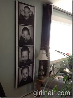 canvas-wall-gallery...photo booth of one or stack of all 4 kids