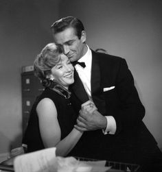 """#LoisMaxwell and #SeanConnery in """"From Russia with love"""" 1963 -- #BowTie"""