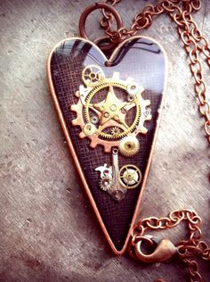 The Starchild Heart Pendant by ColdGarageCreations on Etsy, $33.00