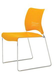 Get swept away with Flurry, a high-density polypropylene stack chair that radiates charm and character. Ideal for training rooms, meeting areas, auditoriums, convention centers and more, Flurry offers functional ganging capabilities and can also stack up to 25-high for space-saving convenience. With eight contemporary colors to choose from, it's sure to be the bright spot in any room.