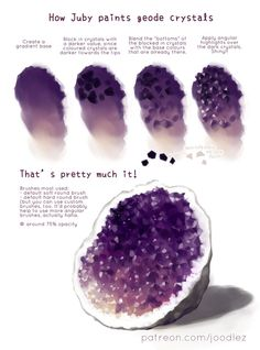 How to color crystal geodes