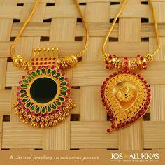 Pendant Kerala Jewellery, India Jewelry, Temple Jewellery, Ethnic Jewelry, Gold Earrings Designs, Gold Jewellery Design, Necklace Designs, Gold Jewelry Simple, Trendy Jewelry