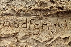 in sand...