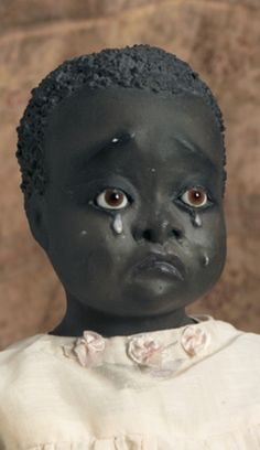Rare American Black Folk Doll by Leo Moss I look deep into those eyes, I feel so sorry for her. Doll Toys, Barbie Dolls, Black Queen, Black Baby Dolls, 1920s, African American Dolls, Old Dolls, Collector Dolls, Antique Toys