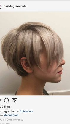 Holy cow, I adore this cut! – P P Holy cow, I adore this cut! Holy cow, I adore this cut! Cool Short Hairstyles, Haircuts For Fine Hair, Love Hair, Great Hair, Short Hair Cuts, Short Hair Styles, Choppy Hair, Pelo Pixie, Corte Y Color