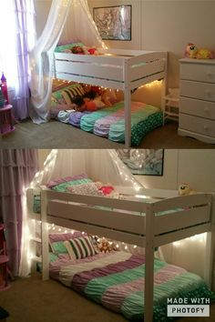 For a Princess mermaid theme bedroom. Beds are great for small children. Canopy is beautiful. My girls love it!