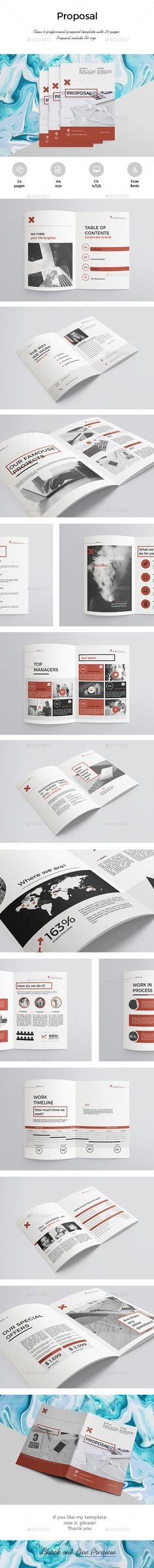 Invoice Business proposal, Proposal templates and Font logo - invoice page