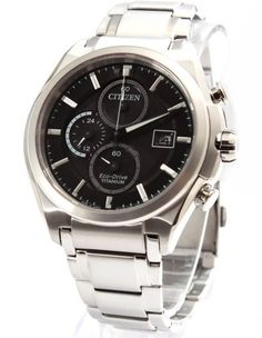 Citizen Mens Eco Drive Titanium Chronograph Watch - In Stock, Free Next Day Delivery, Our Price: Buy Online Now Citizen Eco, Citizen Watch, Rolex Watches, Watches For Men, Seiko, Fashion Watches, Chronograph, Omega Watch, Mens Fashion