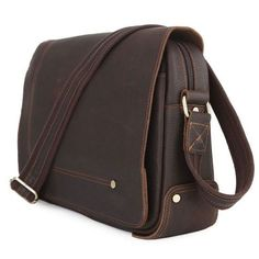 Vintage Leather Messenger Bag Very rigorous finishes, excellent choice of leather and hardware for ensuring strength and longevity of the product. ...