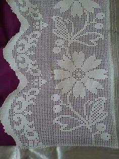 Dantel ornegi Filet Crochet, Crochet Projects, Crochet Patterns, Crochet Smock Tops, Farmhouse Rugs, Crochet Curtains, Bedspreads, Boleros, Valances