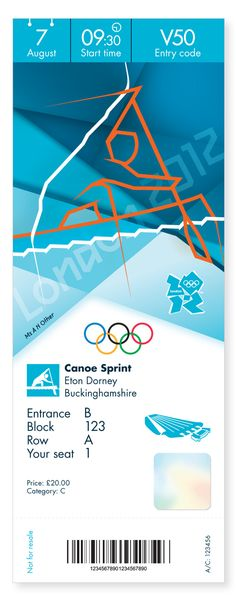Ticket designs for the 2012 Olympic and Paralympic Games. Designed by Futurebrand, the tickets incorporate Someone's pictogram designs along with images of the venues.