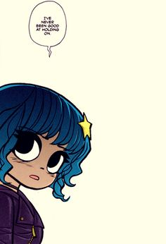 """I've never been good at holding on"" - Ramona Flowers quote Scott Pilgrim Comic, Bryan Lee O Malley, Gogo Tomago, Ramona Flowers, Vs The World, Cosplay, Comic Art, Nerdy, Illustration"