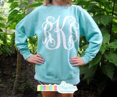 Comfort Colors Big Pressed Monogrammed Crewneck