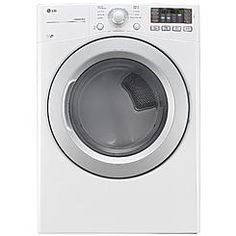 LG 7.4 cu. ft. Capacity Electric Dryer w/ NFC Tag On Technology – White DLE3170W