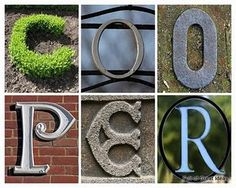 DIY personalized letter art with link to FREE letters (hundreds of each letter!) to use for your designs.